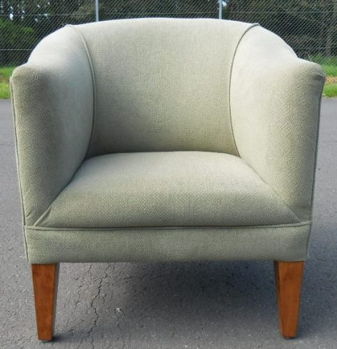 Upholstered Tub Shaped Armchair